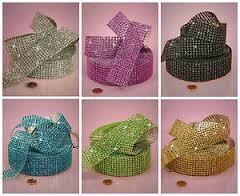 8 Row Diamond Mesh Ribbon