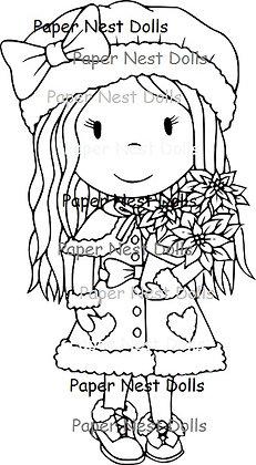 Paper Nest Dolls - Christmas Flower Avery