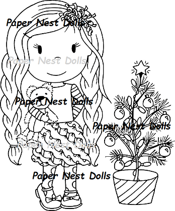 Paper Nest Dolls - Christmas Tree Ellie