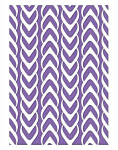 Couture Creations Embossing Folder - Weaved