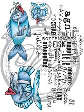 Vilda Stamps - Fish Set with Swedish Text