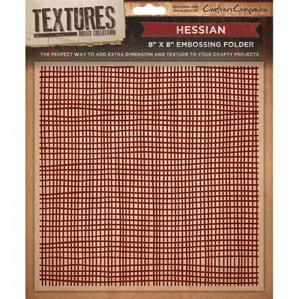 Crafters Companion Textures Folder - 8x8 - Hessian