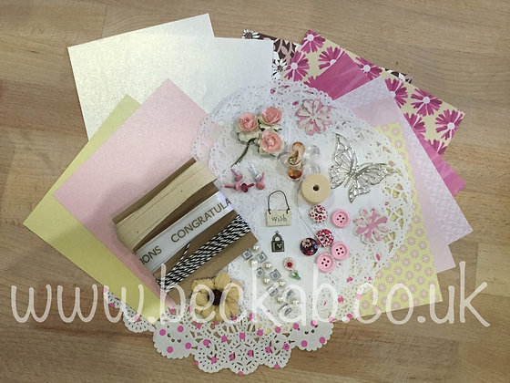Becka B Embellishment Kit - Pink Tones