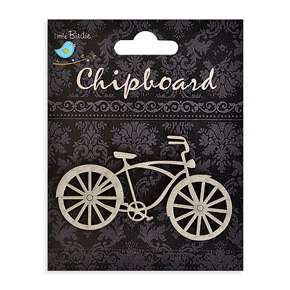 Little Birdie Chipboard  - Vintage Bicycle