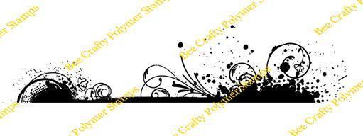 Bee Crafty Backdrops Border - Splatter & Swirl