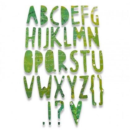 Sizzix Thinlits Die - Alphabet