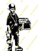 Inspired By Banksy Stamp - Ghetto Blaster