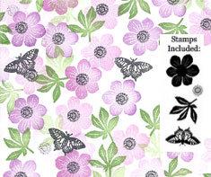 Card-io Peg Stamps - Anemone Garden