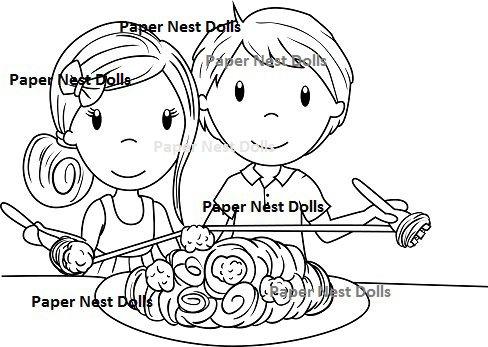 Paper Nest Dolls - Italian Love