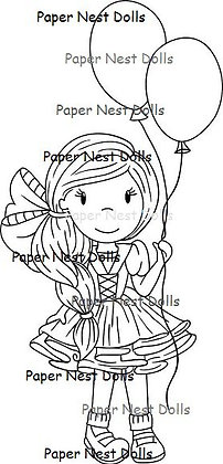 Paper Nest Dolls - Party Time Avery