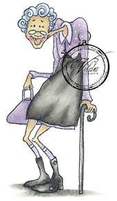 Vilda Stamps - Skinny Old Woman