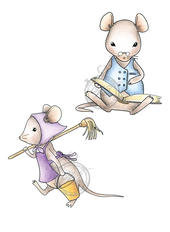 Vilda stamps - Two Cute Little Rats