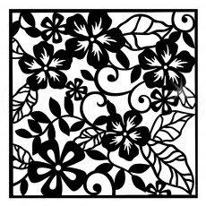Indigo Blu Stencil - Floral Fantasy