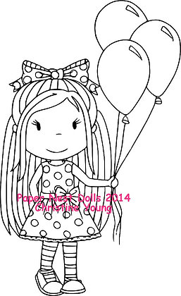 Paper Nest Dolls - Birthday Balloons Ellie