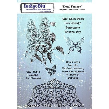 Indigo Blu Stamp Set - Floral Fantasy