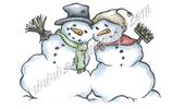 Vilda Stamps - Snowman Couple