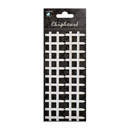 Little Birdie Chipboard  - Picket Fence