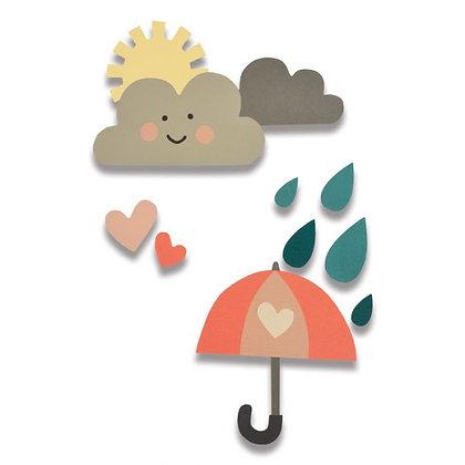 Sizzix Thinlits Die - Rainy Days And Sunshine