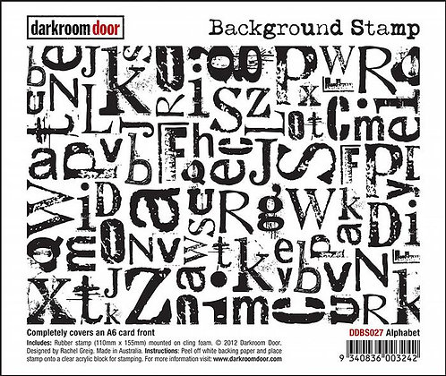 Darkroom Door Background Stamp - Alphabet