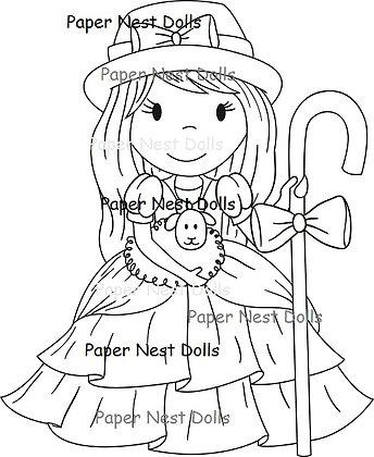 Paper Nest Dolls - I Love Ewe