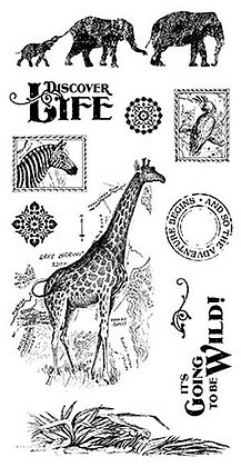 Graphic 45 Stamp Set - Safari Adventure 2