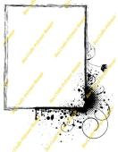 Bee Crafty Background Frame Stamp - Splatter Swirl Upright Rectangle