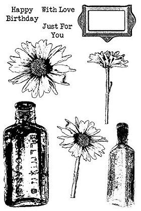 Sweet Dixie Stamp Set - Daisy and Bottles