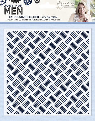 Just For Men Embossing Folder - Checkerplate