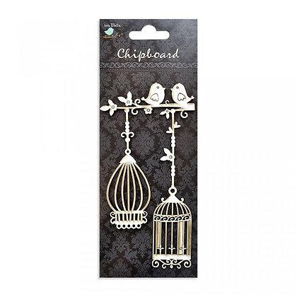 Little Birdie Chipboard  - Bird & Birdcage