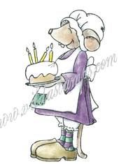 Vilda Stamps - Birthday Cake Mouse