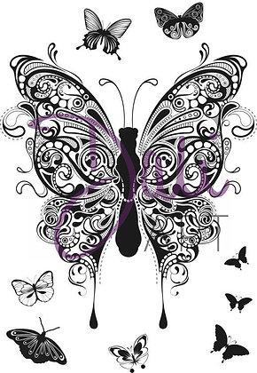 Dali Art Stamp - Henna Butterflies