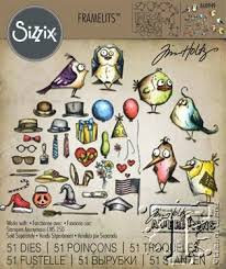 Sizzix  Die Set by Tim Holtz - Mini Bird Crazy And Crazy Things