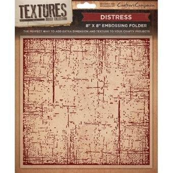Crafters Companion Textures Folder - 8x8 - Distress