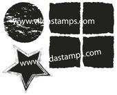 Vilda Stamps - Squares, Circles and Stars