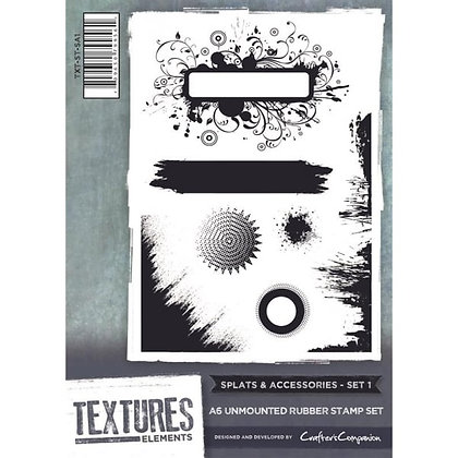 Crafters Companion Stamp Set - Splats & Accessories 1