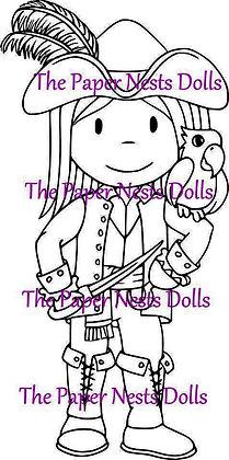 Paper Nest Dolls - Pirate Owen