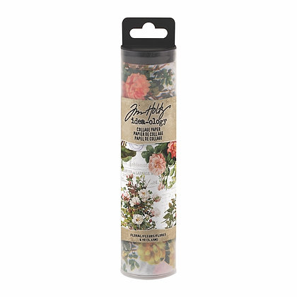 Tim Holtz Collage Paper - Floral