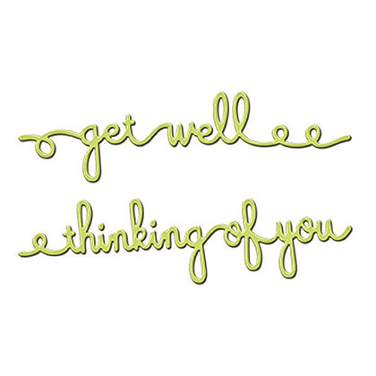 Spellbinders Dies - Get Well Soon/Thinking of You Sentiments Four