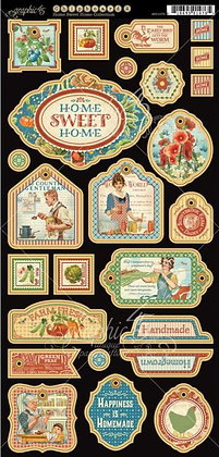 Graphic 45 Chipboard - Home Sweet Home 2