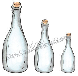 Vilda Stamps - Glass Bottles