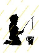 Inspired By Banksy Stamp - Fishing Boy