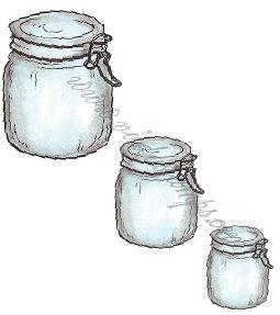 Vilda Stamps - Glass Jars