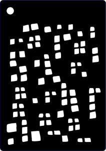 Creative Expressions Stencil - Mini Squares