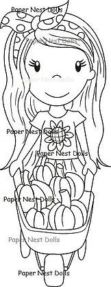 Paper Nest Dolls - Pumpkin Ellie