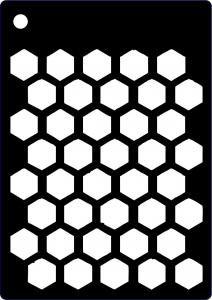 Creative Expressions Stencil - Honeycomb
