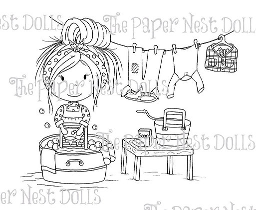 Paper Nest Dolls - Washboard Ellie
