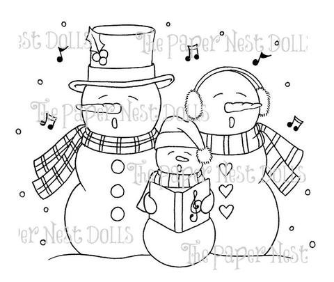 Paper Nest Dolls - Singing Snowman