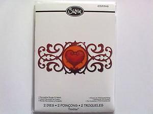 Sizzix Thinlits Die - Decorative Border & Heart