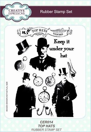 Creative Expressions Stamp Set - Top Hats
