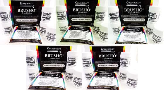Brusho Crystal Colour - Set of 5